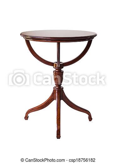percorso, ritaglio, legno, isolato, tavola, rotondo, fondo, bianco - csp18756182
