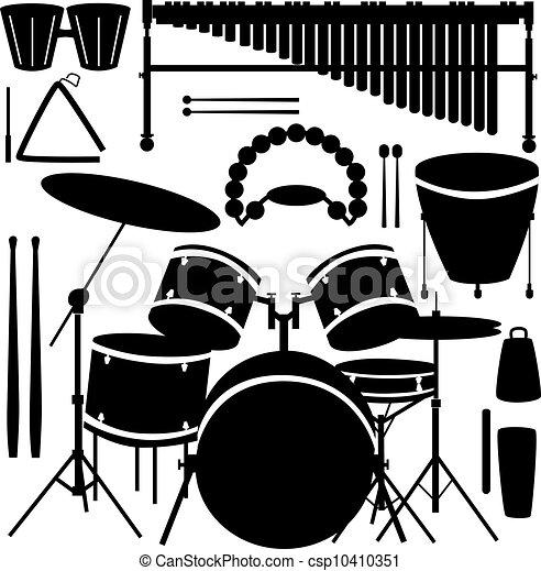 Percussion instruments vector - csp10410351
