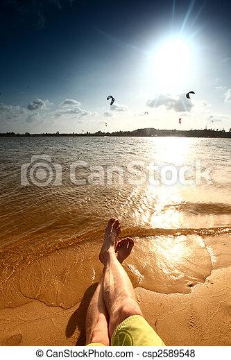 perezoso, vacaciones - csp2589548
