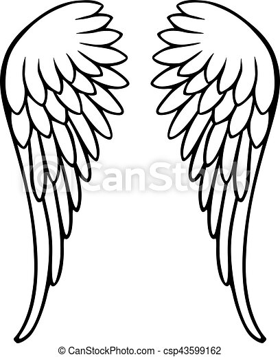 perfect angel wings clip art vector search drawings and graphics rh canstockphoto com clip art wingspan clipart wings png