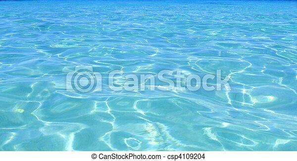 Agua azul turquesa perfecta - csp4109204