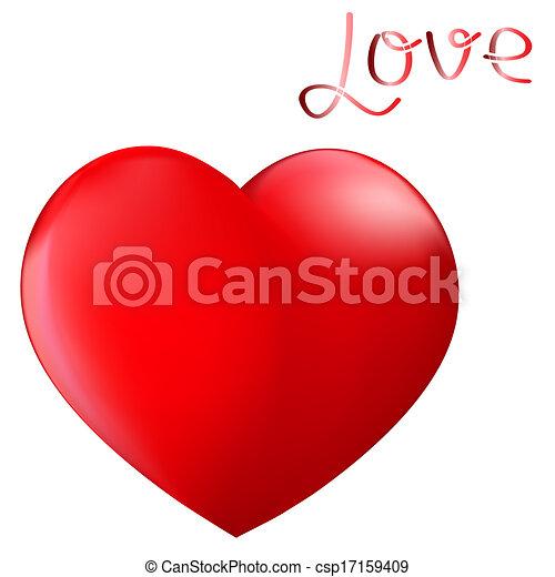 Ilustracin de archivo de perfecto corazn rojo  un por