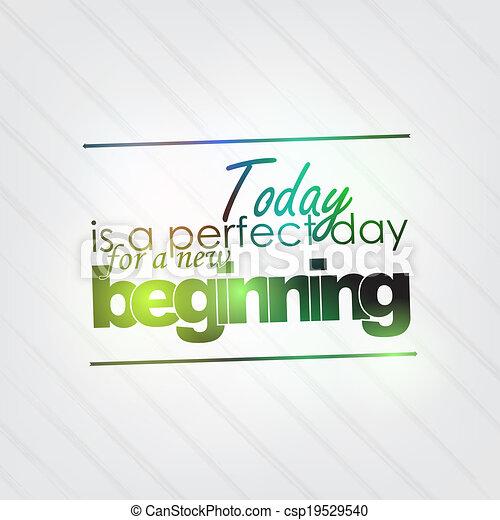 perfetto, inizio nuovo, giorno - csp19529540