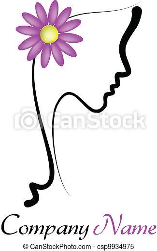 perfetto, profilo, donna, giovane - csp9934975