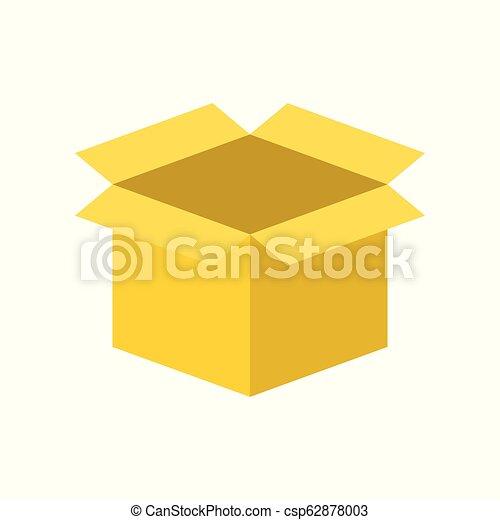 perfetto, scatola, appartamento, disegno, pixel, vuoto, icona - csp62878003