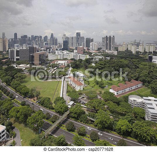 El horizonte de la ciudad de Singapur - csp20771628