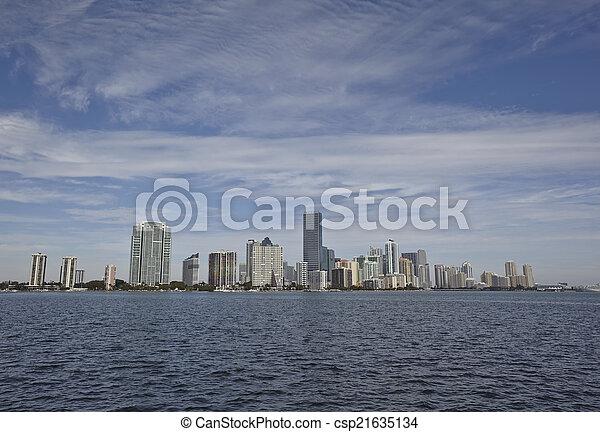 Miami City Skyline panorama de día - csp21635134