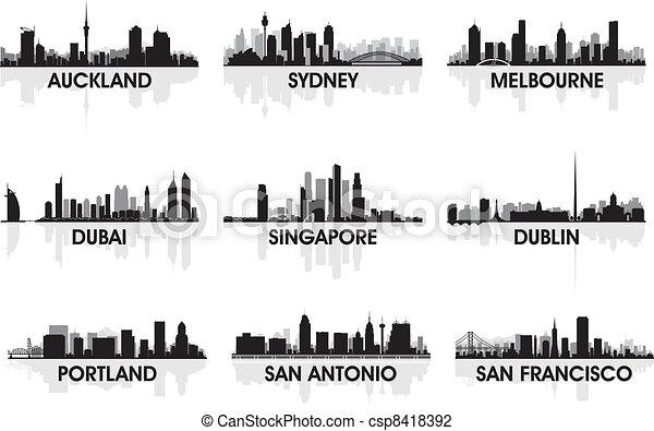 Skyline de la ciudad - csp8418392