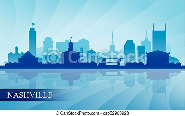 Nashville City skyline silueta fondo - csp52903928