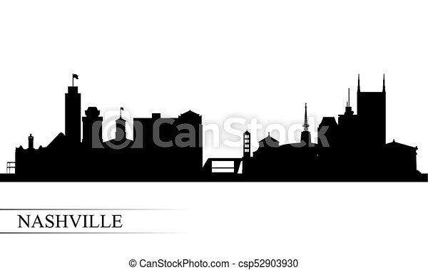 Nashville City skyline silueta fondo - csp52903930