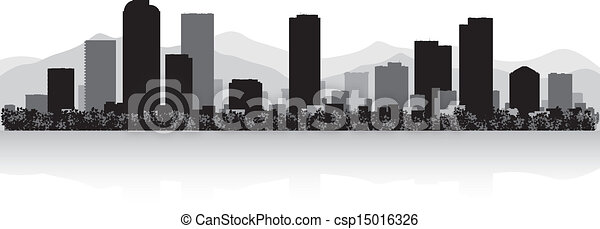Silueta de la ciudad de Denver - csp15016326