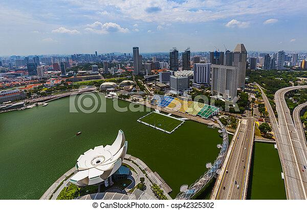 El horizonte de la ciudad de Singapur - csp42325302