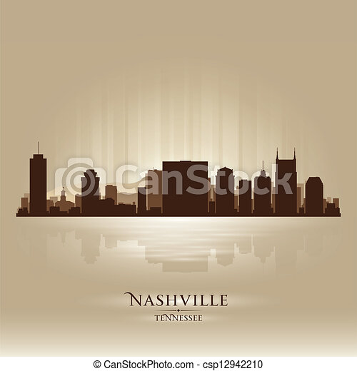 Nashville tennessee skyline ciudad silueta - csp12942210
