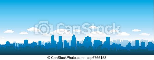 Skyline de la ciudad - csp6766153