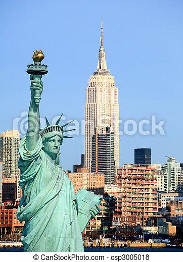 La ciudad de Nueva York a mitad del cielo - csp3005018