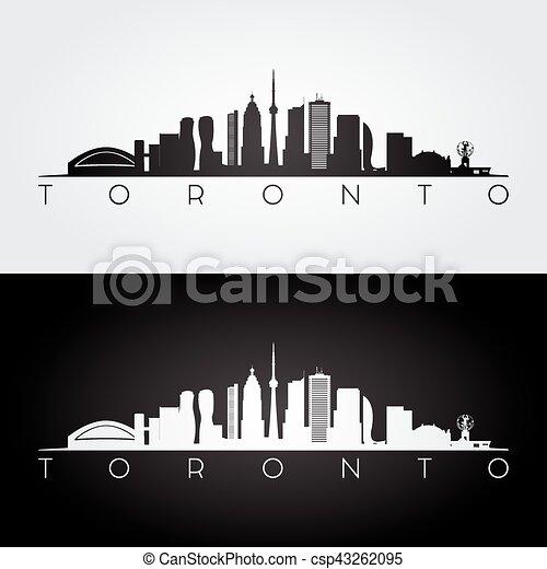 Silueta de horizonte de Toronto. - csp43262095