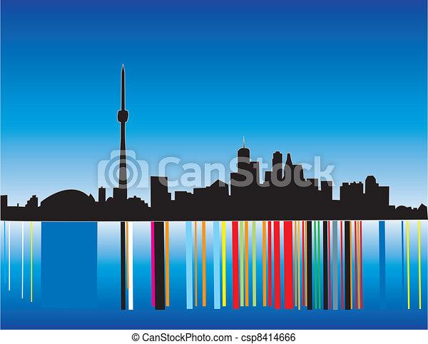 La silueta de Toronto - csp8414666