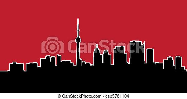 Silueta de horizonte de Toronto - csp5781104