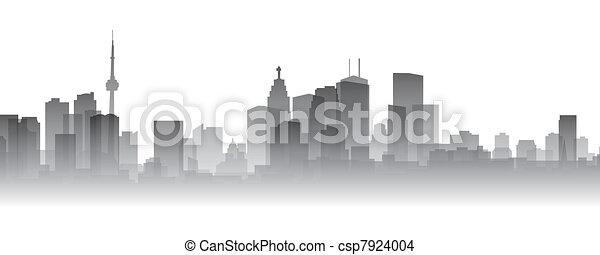 La silueta de Toronto - csp7924004