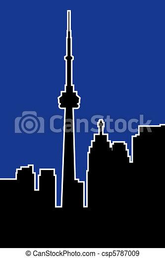 La silueta de Toronto - csp5787009