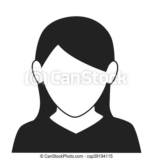 Perfil Mulher Ilustracao Rosto Vetorial Icone Perfil