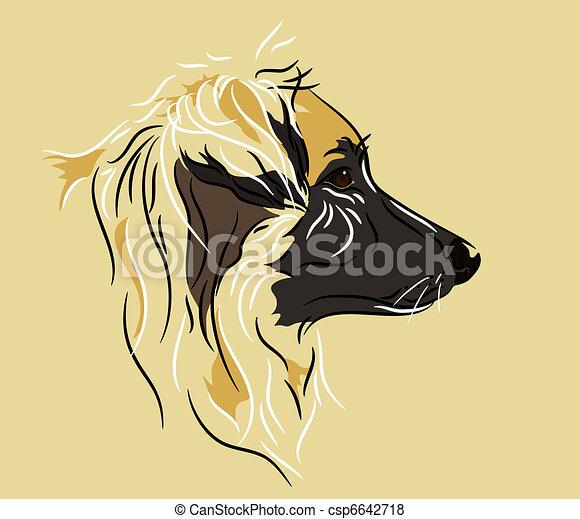 perfil, pastor, perro, mezcla - csp6642718