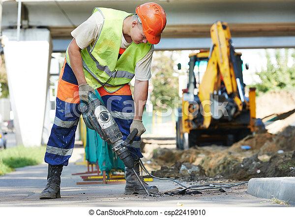 perforator, 建築作業員 - csp22419010