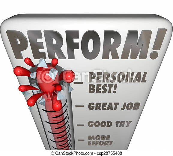 Perform Thermometer Measure Score Feedback Grade Rating Success - csp28755488