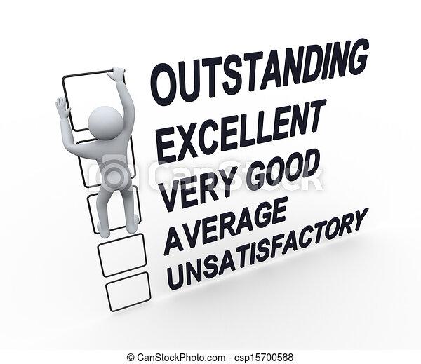 performance, 3d, évaluation, formulaire, homme - csp15700588