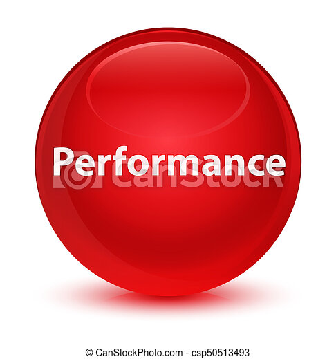 Performance glassy red round button - csp50513493