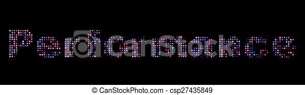 Performance led text - csp27435849