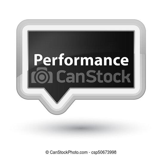 Performance prime black banner button - csp50673998