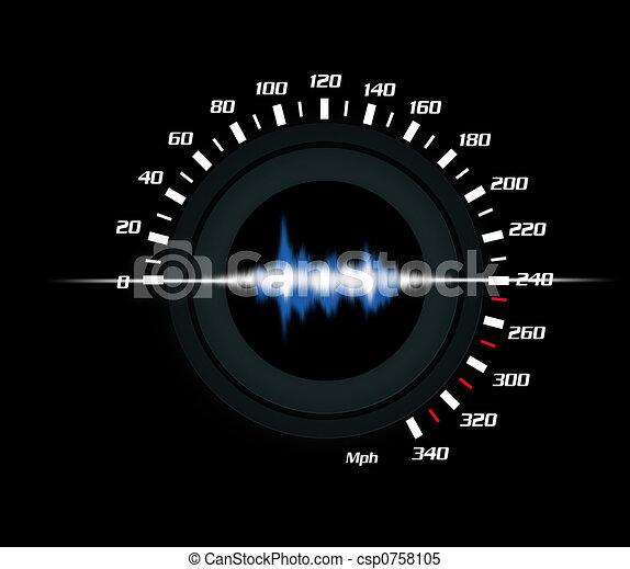 performance, son, voiture - csp0758105