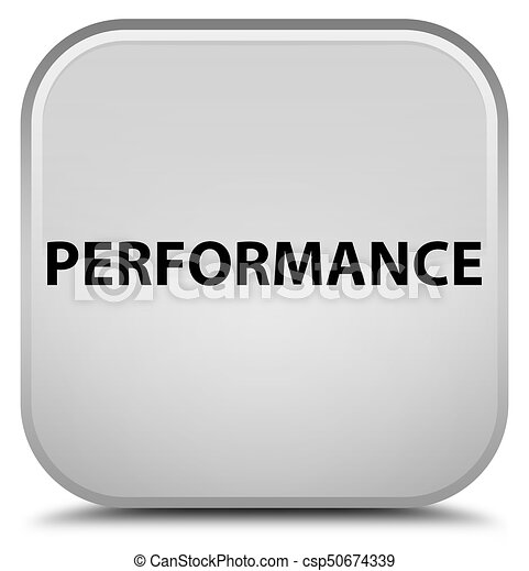 Performance special white square button - csp50674339