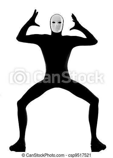 performer mime with mask angry displeased - csp9517521