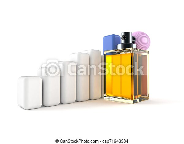 Perfume bottle with chart - csp71943384