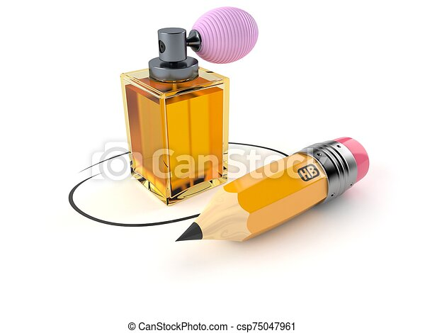 Perfume bottle with pencil - csp75047961