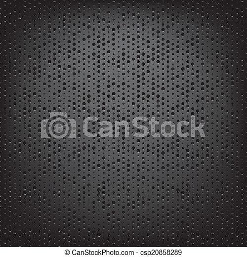perfurado, carbono, fibra, tecer - csp20858289