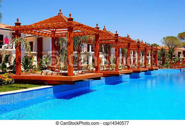 Pergola piscine t pergola bois paysage piscine natation - Pergola piscine ...
