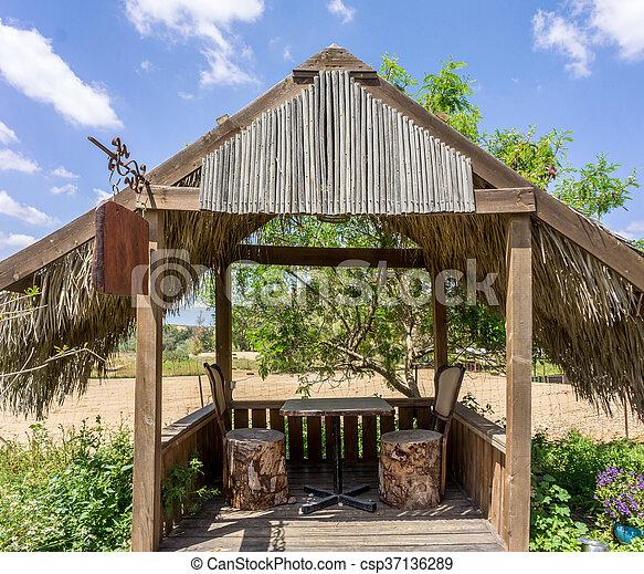 Dach Für Pergola pergola, zweige, hölzern, dach, handfläche, bedeckt. zweige, pergola