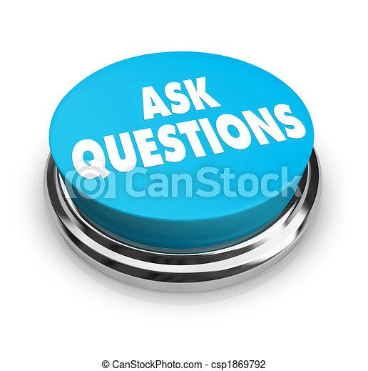 perguntar, botão, -, perguntas - csp1869792