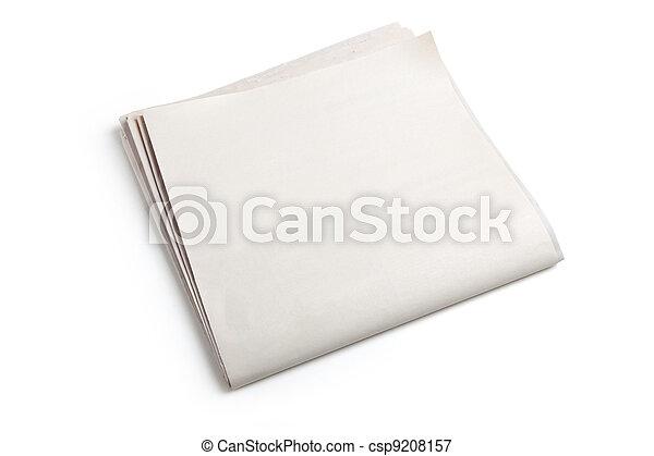 periódico, blanco - csp9208157