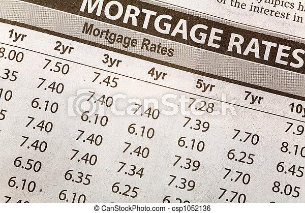 La tasa de la hipoteca - csp1052136