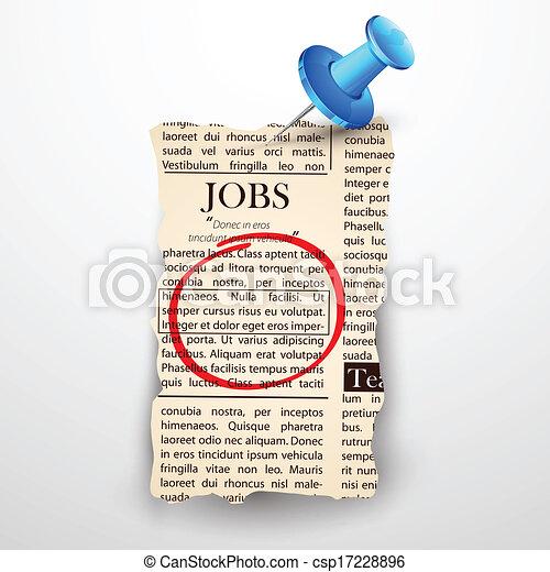 Trabajo clasificado en el periódico - csp17228896