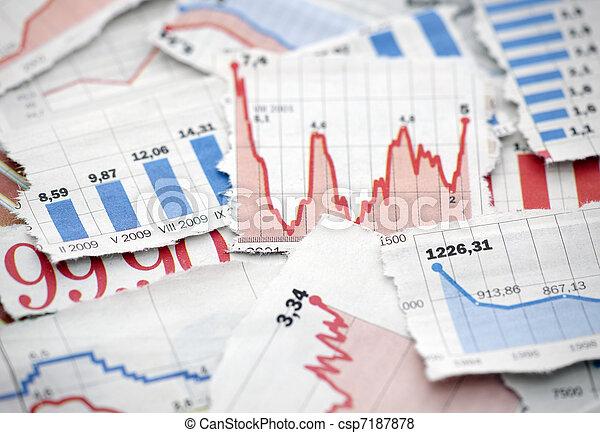 Cartas financieras de los periódicos - csp7187878