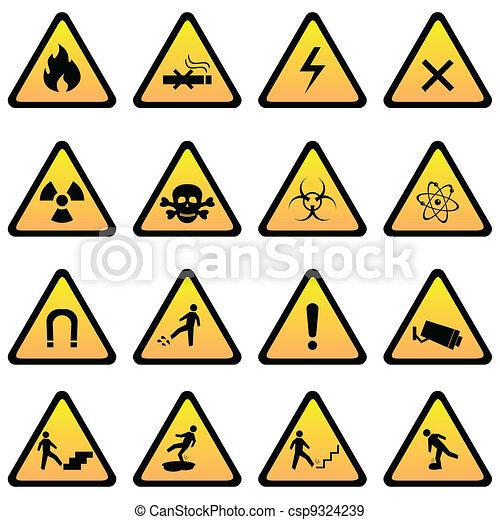 pericolo, avvertimento firma - csp9324239