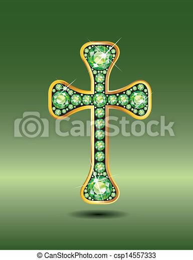 peridot, キリスト教徒, 交差点, 金 - csp14557333