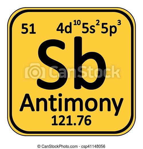 Periodic Table Element Antimony Icon Periodic Table Element