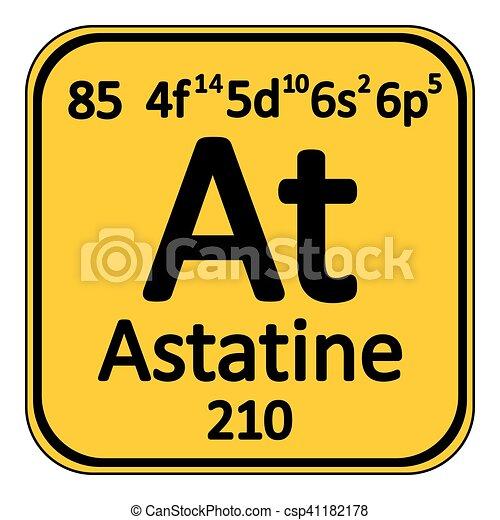Periodic table element astatine icon periodic table element periodic table element astatine icon csp41182178 urtaz Image collections