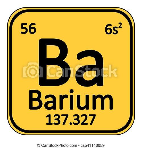 Periodic Table Element Barium Icon Periodic Table Element Barium